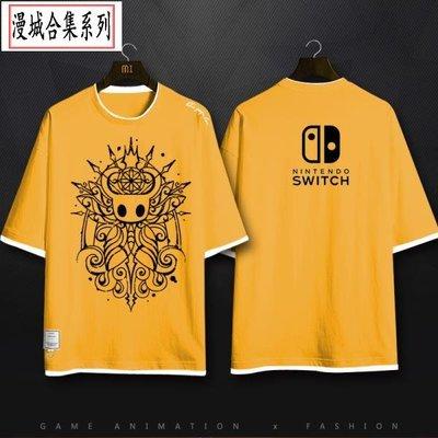 游戲周邊TEE Hollow Knight空洞騎士容器全棉圓領男女短袖T恤衣服 cidy