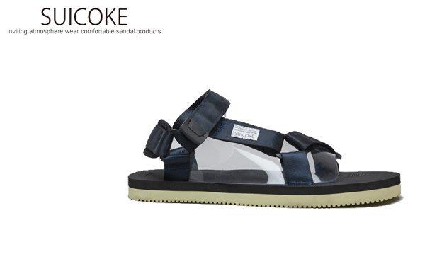 WaShiDa【SK-OG-022-086】SUICOKE DEPA 涼鞋 基本款 VIBRAM底 戶外 深藍色 現貨