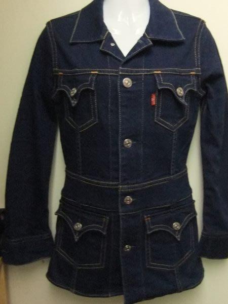 【100%真品】 Levis 經典深藍合身長版實穿牛仔外套