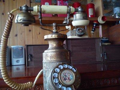 *內壺春角落光陰* 銅製 早期 巴洛克風 宮廷式 古董 轉盤 電話