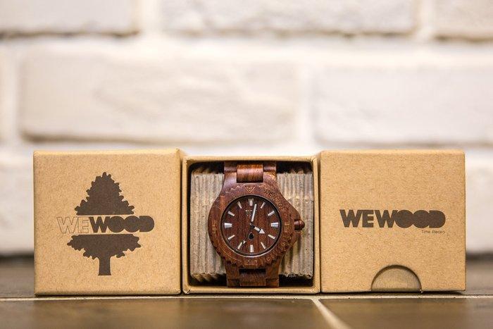 【紐約范特西】特價現貨   義大利 We Wood WEWOOD DATE BROWN 木頭錶 棕 木頭指針錶