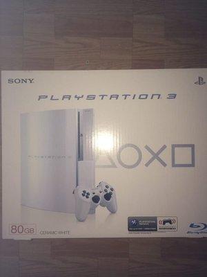 PS3 80GB 白色 二手 已使用過