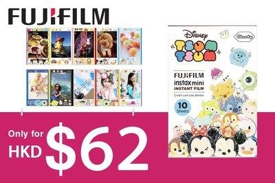 [DJS COMMERCE] Fujifilm instax mini film Disney Tsum Tsum 彩繪版富士即影即有菲林迪士尼米奇老鼠相紙