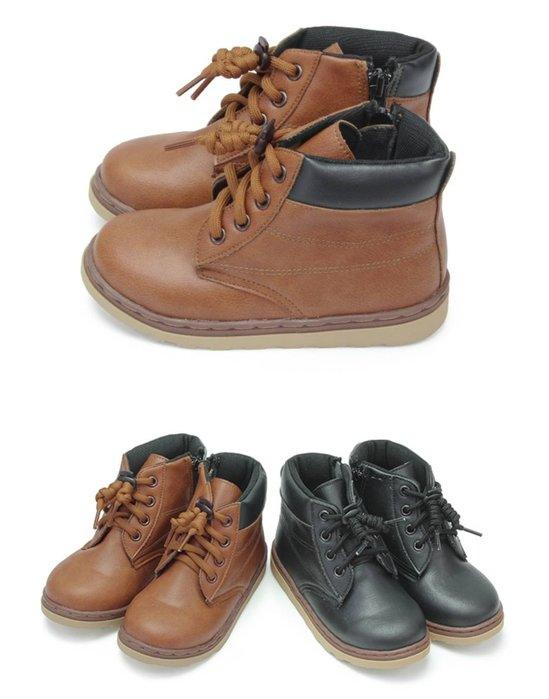 富發牌。童鞋。33EQ84 俐落帥氣兒童中筒靴  (咖/黑)(16-22號)~nanakids娜娜童櫥
