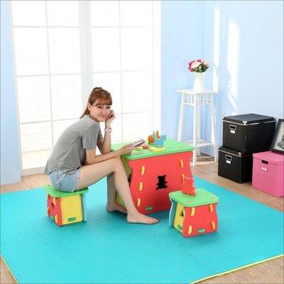 臥室/客廳/玩具室【居家大師】EVA 無毒環保兒童遊戲一桌二椅組 EVA002