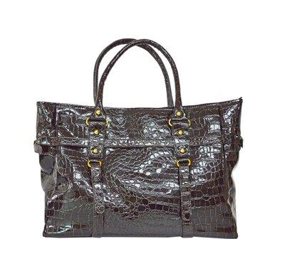 特價包包!! 鱷魚 皮革 內裡黑色 手提包 肩背包 帆布包 萬用包 手提包 側背包 A-355