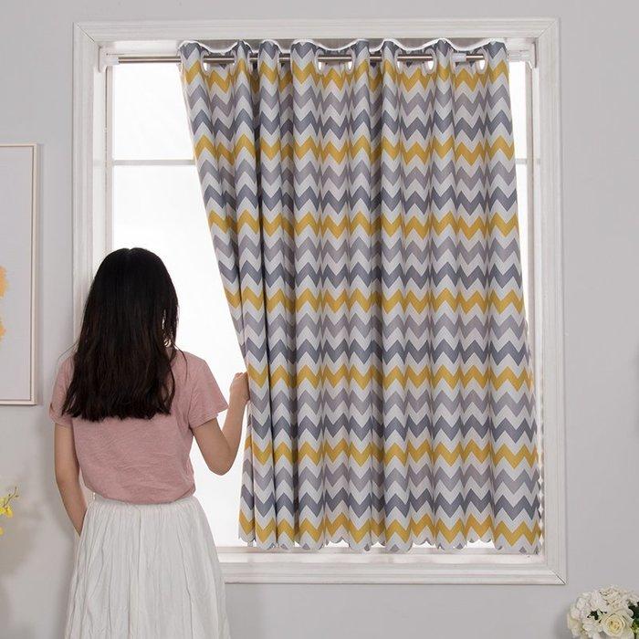 SX千貨鋪-簡易窗簾布遮光免打孔安裝伸縮桿套裝出租房屋臥室小窗戶短經濟型#窗簾#防蚊網#遮光布#沙發墊