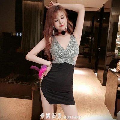 洋裝夜店性感女裝氣質女初春新款夜總會低胸連身裙修身顯瘦包臀裙