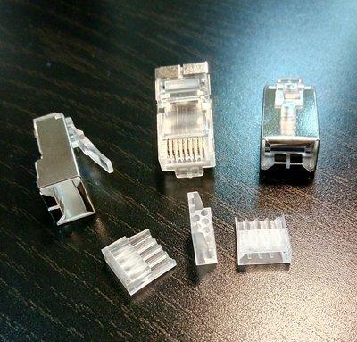 台製 CAT.6A CAT6A FTP 超六類屏蔽 二件 三叉式 水晶頭 不限量