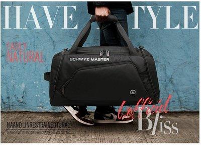 正品施維茨十字旅行包男女手提包大容量雙肩行李袋韓版短途旅遊行李包健身包(全館二件免運)