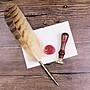 【GIGI小舖】S5013貓頭鸚羽毛筆火漆章套裝 生日禮物 創意送禮 沾水筆 蘸水筆 鋼筆 送朋友送主管送男友 哈利波特