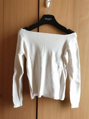 korea off shoulder white knit top h m asos mango forever21 river island 韓國靚一字領 露肩白色針織襯衫