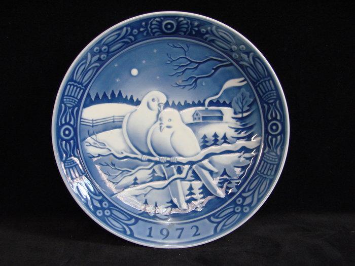 ➷巨降特賣➷150一元起標 ·. 喬治傑生 絕版骨瓷 .· 絕無僅有的【1972年度 愛情鳥 限量紀念盤】A42a玩古