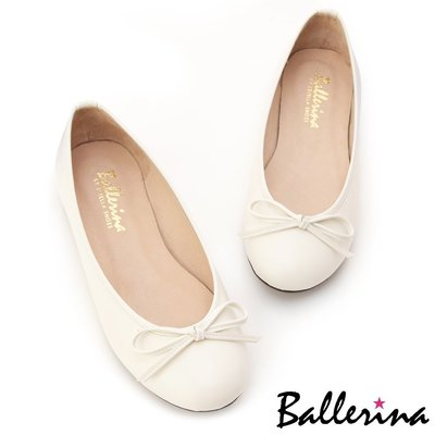 Ballerina-MIT全真皮蝴蝶結柔軟豆豆鞋-杏【BS600003CM】