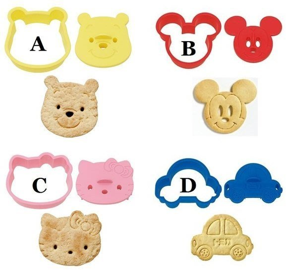 ❤Lika小舖❤日本製 日本帶回正版 蛋糕 吐司/餅乾 大臉 壓模 維尼熊/米奇/Hello kitty/TOMICA車