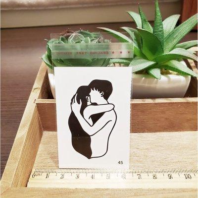 【萌古屋】百態人生45單圖 - 男女防水紋身貼紙刺青貼紙 K43