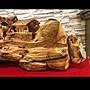 紅豆杉木 精緻雕刻 錦繡山河 雕工細緻 值得收藏
