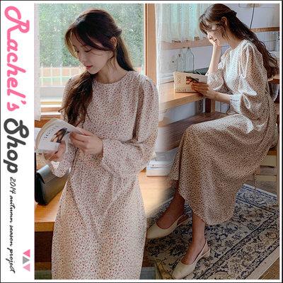 韓國空運*cherrykoko薔薇園 玫瑰印花抓摺拋拋袖長洋裝[CK-CB02GEOP6]Rachel's Shop