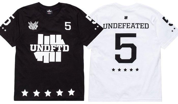 【超搶手】全新正品 2015 最新 UNDEFEATED 5ER TEE 柵欄LOGO 黑白灰 S M