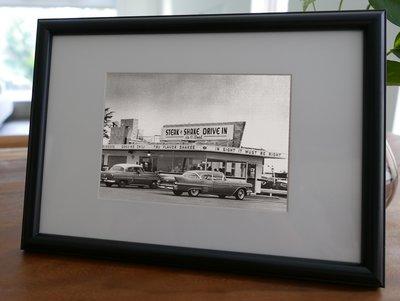 聚鯨Cetacea﹡Art【KLFZ-0793】road公路/car汽車/restaurant餐廳 畫框相框