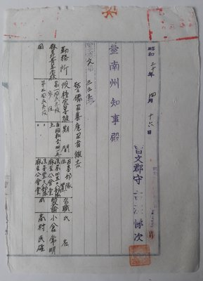 昭和20年4月16日學校職員教育警備召集報告