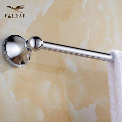 【益華潔具】不銹鋼空心 單桿毛巾架 浴室雙層毛巾桿浴巾架 衛生間 五金掛件fleap衛浴-555競標品