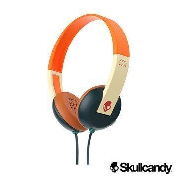 美國 Skullcandy 潮牌 Uproar 阿波羅(橘藍) 藍芽小耳罩式耳機(公司貨)~附發票