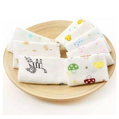 店長嚴選嬰兒紗布口水巾方巾喂奶雙層高密紗布手帕寶寶洗臉小毛巾兒童幼兒