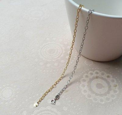 嗨,寶貝銀飾珠寶* 義大利K金☆義大利14K金飾品 時尚細緻 簡約 黃k金 白k金手鍊 長度可以自行調整