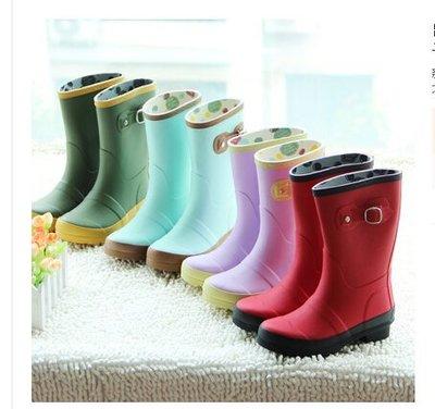 美國happy rainday高品質橡膠兒童雨鞋女男童女童雨靴親子鞋