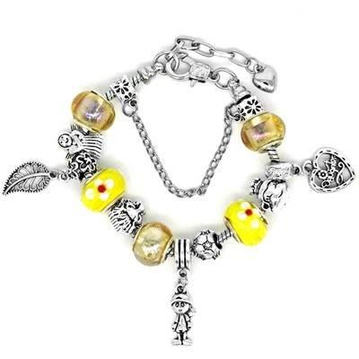 手鍊 串珠手環-琉璃飾品俏麗黃色時尚精緻女配件73bo82[獨家進口][巴黎精品]