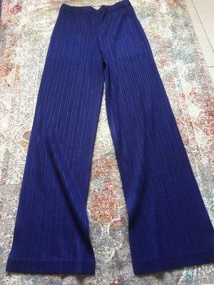 *Fly idea*Pleats Please/me ISSEY MIYAKE 日本製 低調奢華貴氣深紫色 秋冬長褲