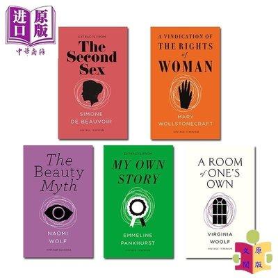 [文閲原版]女性主義經典短篇5冊套裝 英文原版 Vintage Feminism Short Edition 婦女參政論