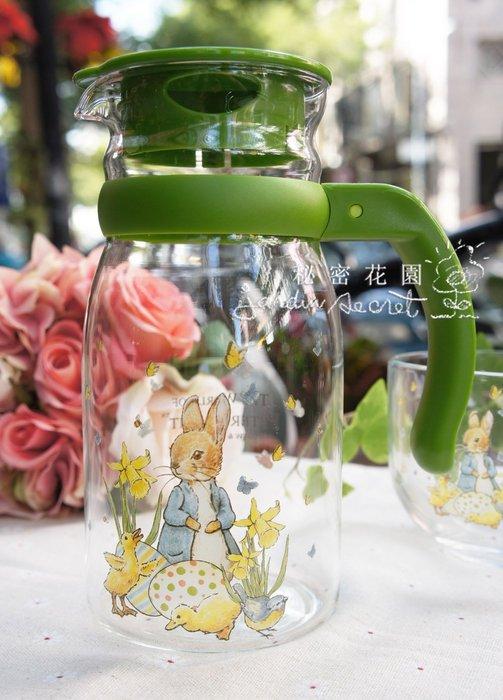 玻璃水壺--彼得兔比得兔耐熱壺/冷水壺805ml--秘密花園