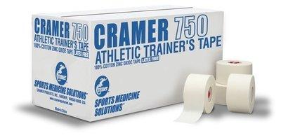 美國克拉瑪750教學用貼布 Cramer 1.5吋 運動白貼 一箱(32卷)+皮膚膜20卷 下標賣場
