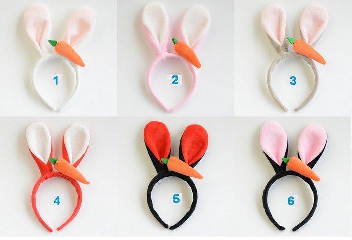 萬聖節頭飾.動物方程式/朱迪兔/兔耳髮飾/兔耳髮箍/韓系胡蘿蔔兔耳髮箍