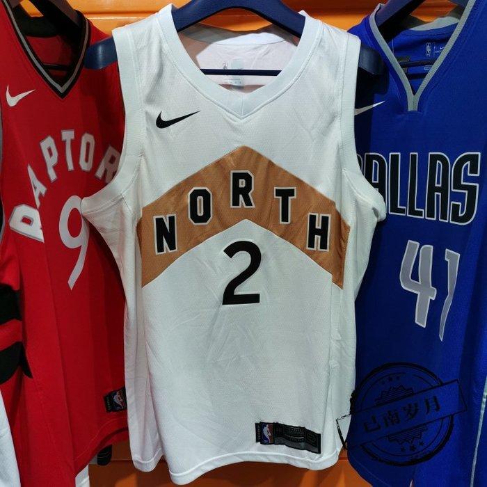 NBA球衣暴龍隊#2號球衣  LEONARD  倫納德 城市版 白色款式