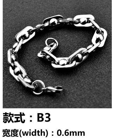 日韓時尚精品316鈦鋼麻花手鍊寬板百搭手鏈
