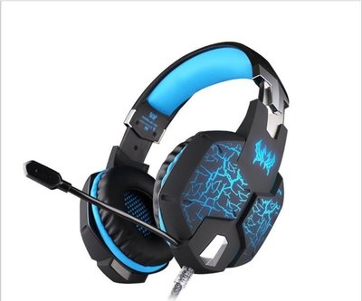EACH 因卓 G1100頭戴式電腦遊戲耳麥語音帶麥克風電競耳機cf 3133