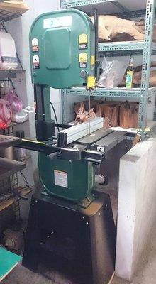 台製外銷款立式帶鋸機  1馬 切削高度10英吋 帶鋸機 漂流木 原木 木工坊 檜木 沉香 剖料 鋸料