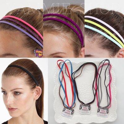 三件套裝組 全新現貨 防滑高彈性 歐美品牌 運動健身跑步瑜伽 髮帶 頭帶 束髮帶 (ZSF30)