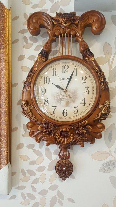 豎琴時鐘樂器造型時鐘