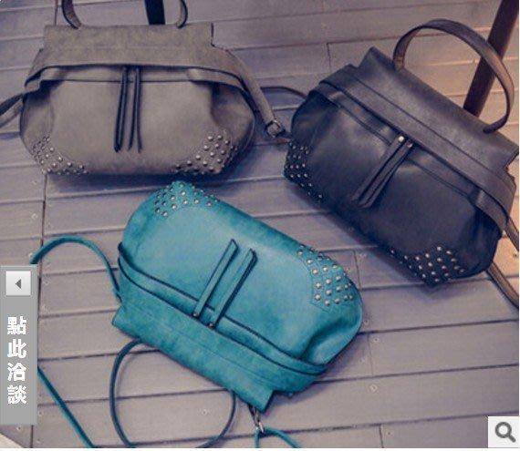 現貨免運費Cutie-Newbag【AA00607】歐美流行時尚少女風豆豆包手提斜背包
