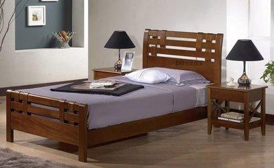 【DH】貨號G079-2《艾林》3.5尺精製實木樟木色單人床架˙附四分板˙質感一流˙主要地區免運