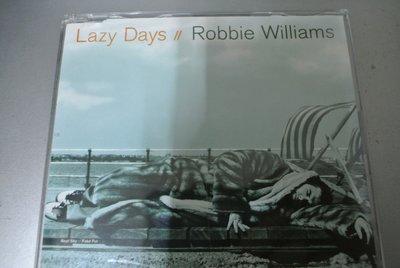 CD ~ Robbie Williams Lazy Days ~1997 Chrysalis 243-8-84335-2