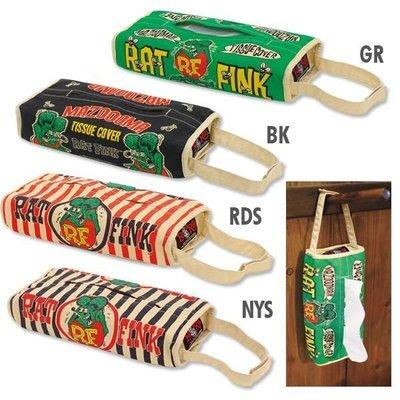 (I LOVE 樂多) Rat Fink Tissue Cases RF 老鼠芬克 面紙套 車上/客廳 可掛於手把/牆上