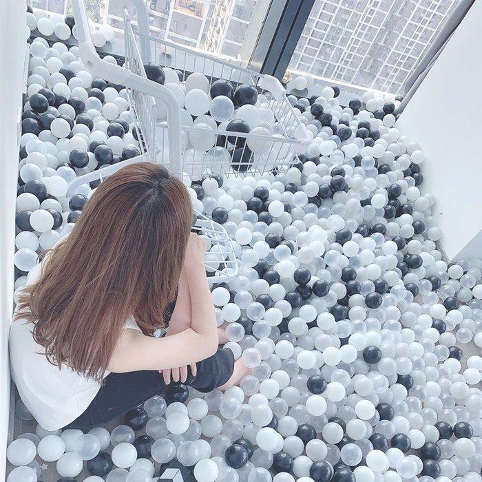 半島鐵盒 網紅海洋球室內無毒兒童家用波波球寶寶玩具彩色球海洋球池圍欄