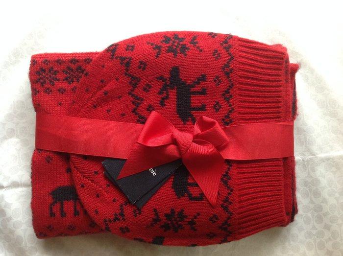 【天普小棧】a&f abercrombie Kids Winter Wear Gift Set麋鹿圍巾(圍脖)+毛線帽