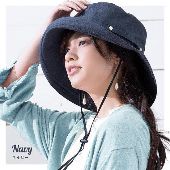 日本遮陽帽 防曬帽 抗UV防紫外線 可折疊附防風繩 日本棉質遮陽帽 漁夫帽 夏帽 盆帽