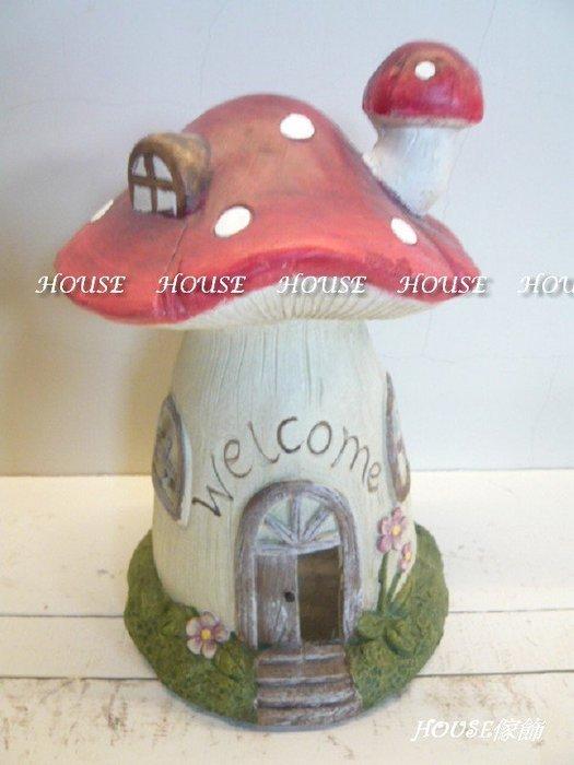 *台南佳里*︵House傢飾館︵*鄉村風格~welcome紅色蘑菇屋擺飾-煙囪/開門【☆限量款/新發售☆】